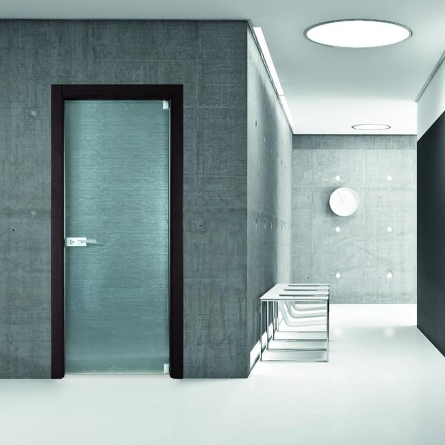 porte moderne salerno baronissi - windotherm - Design Della Porta In Legno Moderno Con Vetro